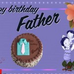 Happy Birthday greeting card for Father,