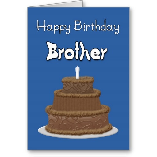 Happy Birthday greeting card for brother,