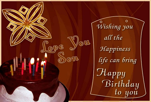 Happy Birthday greeting card for son