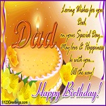 Happy Birthday greeting ecard for Father