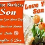 Happy Birthday greeting ecard for son.