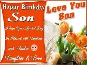 Happy Birthday greeting ecard for son.