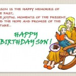 Happy Birthday greeting ecard for son
