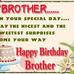 happy Birthday greeting Ecard for brother