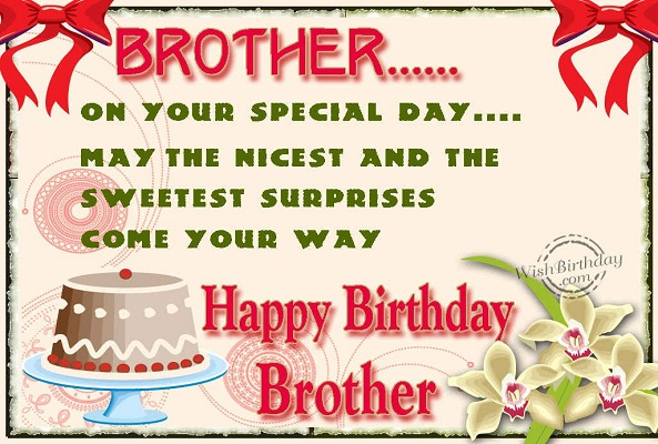 Happy Birthday Greeting Cardsecards For Brother