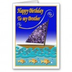 happy Birthday greeting card for brother.