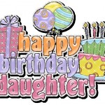 happy Birthday greeting card for daughter.