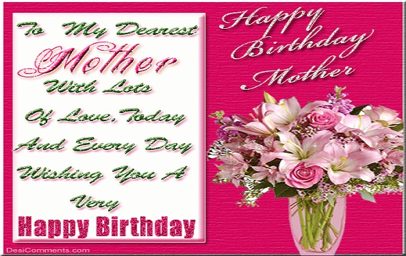 happy Birthday greeting ecard for Mother