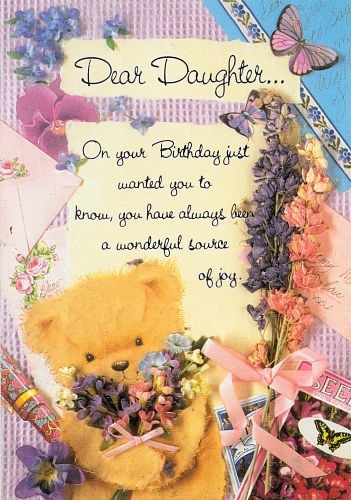 happy Birthday greeting ecard for daughter.
