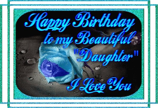 Happy Birthday Greeting Ecard For Daughter