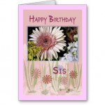 happy birthday greeting card for sister,