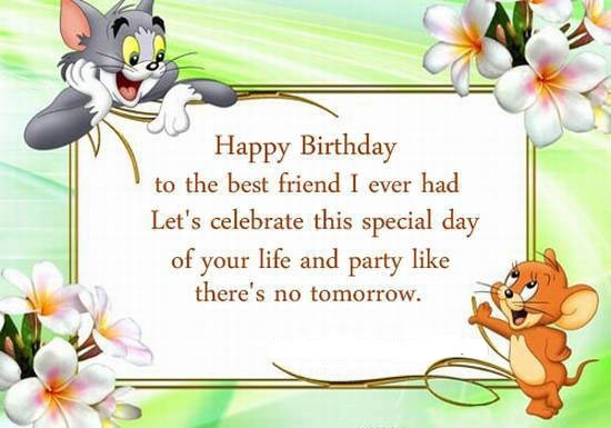 Birthday Card Messages For Friends – Friend Birthday Card Messages