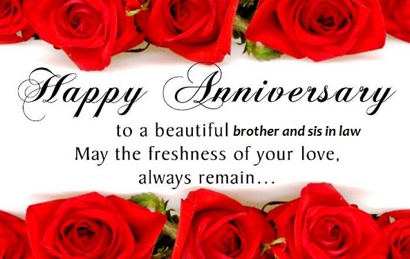 Happy Anniversary to Brother and Sister in law