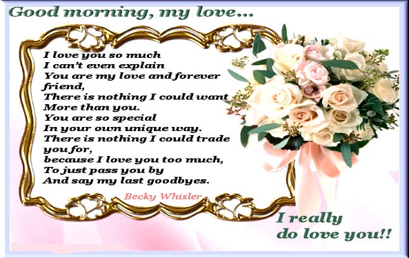 romantic good morning poems for Husband