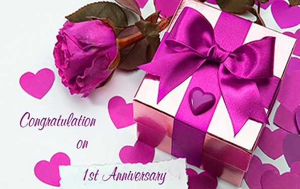 1st Wedding Anniversary Wishes for Friends