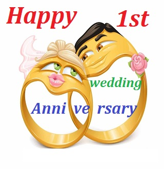 1st Wedding Anniversary Wishes For Friend Tbrb Info