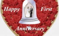1st wedding anniversary wishes for sister, brother in law
