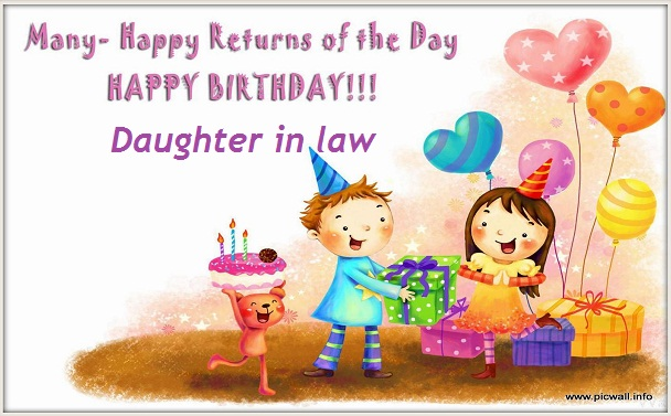 Birthday wishes for daughter in law in English