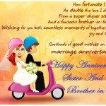 Happy anniversary to sister & brother in law with images