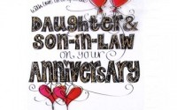 Happy anniversary wishes to daughter and son in law