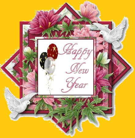Happy new year greeting cards