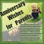 Marriage anniversary wishes to parents
