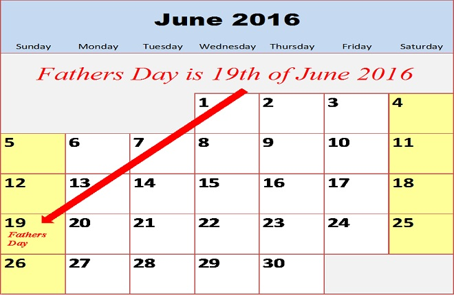 When is Fathers Day