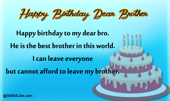 100 Birthday Wishes For Brother Happy Birthday Brother