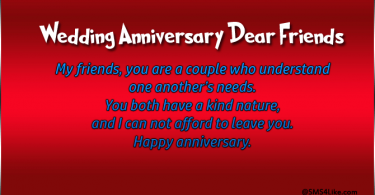 Happy Wedding Anniversary Wishes for Friends