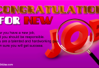 Congratulations Messages for a New Job