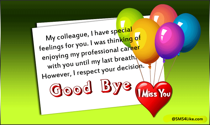 Farewell Message for Colleagues