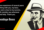 Farewell Messages to Boss
