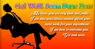 Get Well Soon Messages for Boss
