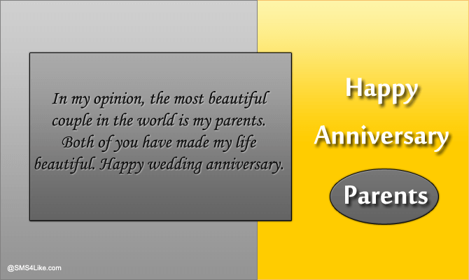 Wedding Anniversary Wishes for Mom & Dad