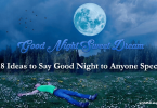 ideas to say good night