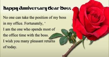 Wedding Anniversary Wishes for Boss